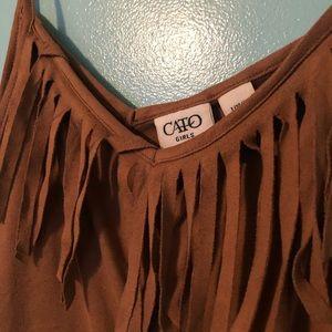 Cato Shirts & Tops - Fringe tank top